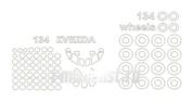 14474-1 KV Models 1/144 Набор окрасочных масок для Туплев-134 +  маски на диски и колеса