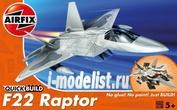 J6005 Airfix Самолет F22 Raptor (сборка без клея)