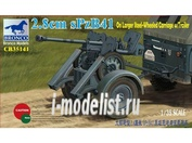 CB35141 Bronco 1/35 2.8cm sPzB41 on larger steel-wheeled carriage with trailer