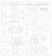 72123 KV Models 1/72 Маска на Vickers Wellington (ALL MODS) + маски на диски и колеса