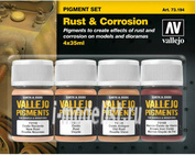 73194 Vallejo Set of dry pigments - Rust, Oil / 4cv.