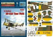 KK18 KARTONOWA KOLEKCJA 1/33 DH-82A Tiger Moth