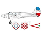 A088 Azur 1/72 Самолет Caproni Ca.310 Yugoslavian, Croat & Hungarian Marking