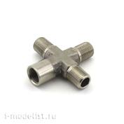 3012 Jas Разветвитель, 1 вход (гайка), 3 выхода (штуцер), металл