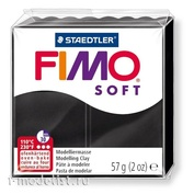 8020-9 Green Stuff World Полимерная глина FIMO Soft, 57 гр., чёрного цвета / Fimo Soft 57gr - Black