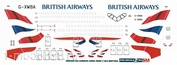 3501000-04 PasDecals Decal 1/144 Scales on Arbus A-350-1000 BRITISH