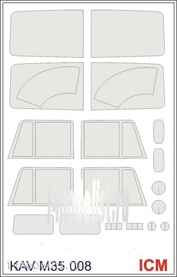 M35 008 KAV models 1/35 Painting mask for glazing To 4310 (ICM)