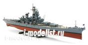 78029 Tamiya 1/350 American battleship BB-63 Missouri (updated in 1991., the Gulf war) with photo-etching.