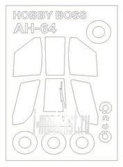 72721 KV Models 1/72 окрасочные маски для AH-64