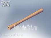 72043 Zedval 1/72 7.62 mm machine gun barrel PKT (3 barrels included)