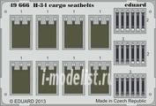 49666 Eduard 1/48 Фототравление для H-34 cargo seatbelts