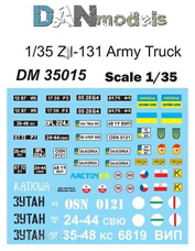 DM35015 DANmodel Decal 1/35 Декали на З&Л-131