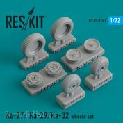 RS72-0157 RESKIT 1/72 Ka-27/Ka- 29/Ka-32 смоляные колеса