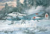 104 Um 1/72 Пикирующий бомбардировщик Пе-2 (55 серия) на лыжах