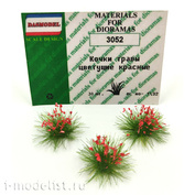3052 DasModel 1/35 Bumps grass blooming red 12mm 40pcs.