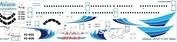 321-007 Ascensio 1/144 Декаль на самолет Arbus A321 (Ямал) (для моделей фирмы Revell)