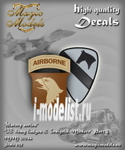 MM35046 Magic Models 1/35 Декаль US Army Badges & Insignia. Modern. Part 3