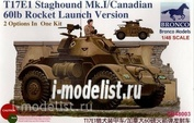 ZB48003 Bronco 1/48 T17E1 Staghound Mk. I (Late Production)with 60lb rocket