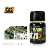 AK045 AK Interactive Смывка для нанесения эффектов DARK WASH FOR GREEN (тёмная смывка для зеленого)