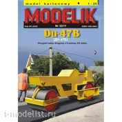 Modelik 32/2011 Modelik Бумажная модель Ду-47Б / Du-47B