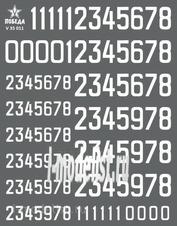 V35011 Победа 1/35 Сухая декаль Цифры для бронетехники. Вариант 1. Высота: 7,20/11,52 мм. СССР, Россия, другие страны.