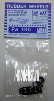7216 Elf Production 1/72 Колеса резиновые Fw-190