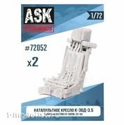ASK48052 All Scale Kits (ASK) 1/48  Кресло К-36Д-3,5 (для самолетов Сухххой-30, Сухххой-34)+декали (2шт.)