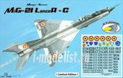 RVA72037 R.V. AIRCRAFT 1/72 MiG-21 Lancer C