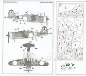M72042 ColibriDecals 1/72 Mask for Fiat G-50 camo (Finnish servis)