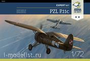 70015 ArmaHobby 1/72 Самолет PZL P.11c Expert Set