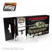 AMIG7101 Ammo Mig Набор акриловых красок LATE WAR GERMAN COLORS SET (Немецкая техника, конец войны)