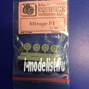 EQD48012 Экипаж 1/48 Резиновые колёса для Mirage F-I