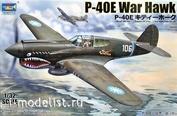 02269 Я-Моделист Клей жидкий плюс подарок Trumpeter 1/32 Curtiss P-40E War Hawk