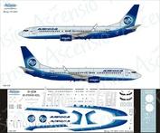 738-019 Ascensio 1/144 Декаль на самолет боенг 737-800 (Alrosa new colors)