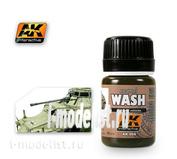 AK066 AK Interactive Смывка для нанесения эффектов WASH FOR AFRIKA KORPS (африканский корпус)
