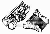 3003 CMK 1/35 Набор дополнений M 998 Hummer - engine set for ACA (GM V-8,6.2 diesel)