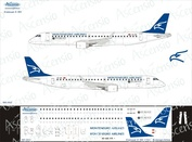 195-002 Ascensio 1/144 Декаль на самолет Embraer 195 (Montenegro Airlines)