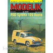 Modelik 18/2008 Modelik Бумажная модель FSO Syrena 105 Bosto