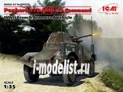 35375 ICM 1/35 Командирская машина Panhard 178 AMD-35, Французский бронеавтомобиль II MB