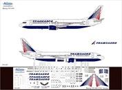 734-001 Ascensio 1/144 Декаль на самолет боенг 737-400 (Трансэро)