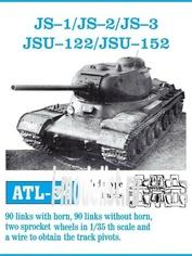 Atl-35-54 Friulmodel 1/35 Trucks scale (iron) for tanks is-1/ is-2/ is-3/ ISU-122/ ISU-152