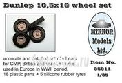 35011 Mirror-models 1/35 Dunlop 10,5 x 16 wheel set