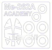 72532 KV Models 1/72 Маска на Me-262A-1a + маски на диски и колеса