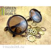 1085 Green Stuff World Винтажные Стимпанк очки / Retro SteamPunk goggles - COOPER frame