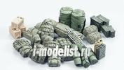 35266 Tamiya 1/35 Modern U.S. Military Equipment Set Набор оборудования современной американской армии, рюкзаки, патронные ящики, канистры, сумки.