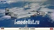 02036 Hasegawa 1/72 Grumman F9F-8 Cougar Combo (две модели в коробке)