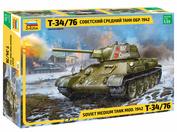 3686 Zvezda 1/35 Soviet medium tank model 1942 T-34/76