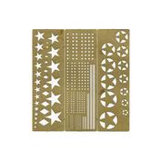 100205 Микродизайн Трафарет покрасочный №1 (Звезды)