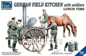RV35045 Riich 1/35 German Field Kitchen with Soliders(cook & three German soldiers,food containers)
