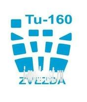 14478 KV Models 1/144 Набор окрасочных масок для остекления модели Туплев-160